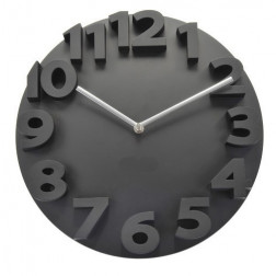 Black Thick Numbers Contemporary Wall Clock
