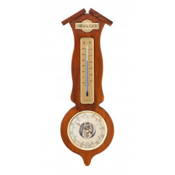 COBB & Co. Roof Style Barometer and Thermometer