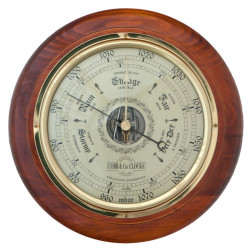 COBB & Co. Round Barometer, Golden Oak