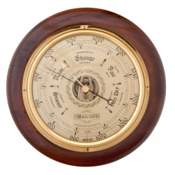 COBB & Co. Round Barometer, Walnut