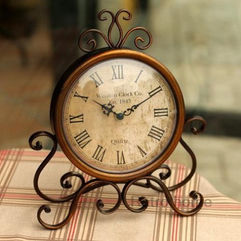 Reproduction Continental Iron Desk Clock