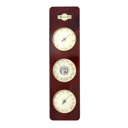 COBB & Co. Large 3 in 1 Barometer, Mahogany, 15cm x 54cm