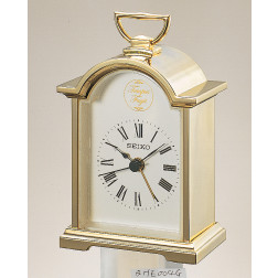 Seiko Mantle Alarm Clock Gold Plated
