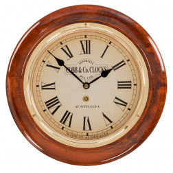 COBB & Co. Small Railway Clock, Golden Oak,  28cm