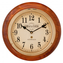 COBB & Co. Small Railway Wall Clock Arabic Numerals 28cm