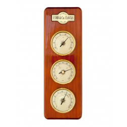 COBB & Co. Small 3 in 1 Barometer, Golden Oak, 11cm x 32cm