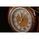 COBB & Co Green Sandalwood Casual Leather Wood Watch