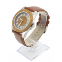 COBB & Co Green Sandalwood Casual Leather Wood Watch 45 angle