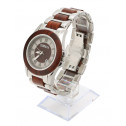 COBB & Co Red Sandalwood Wood Watch 45 Angle