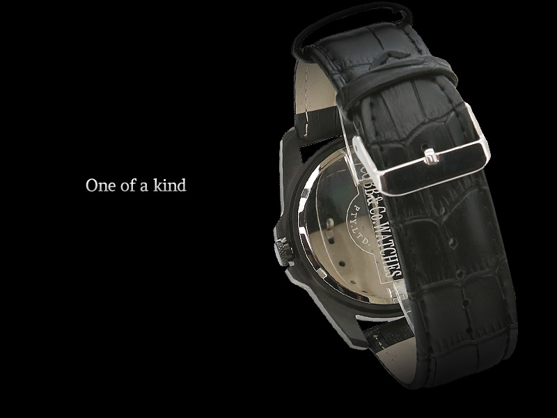 Black wood watch One of a kind design