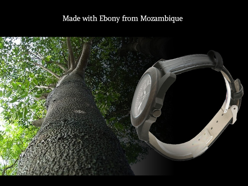 Made with Ebony from Mozambique