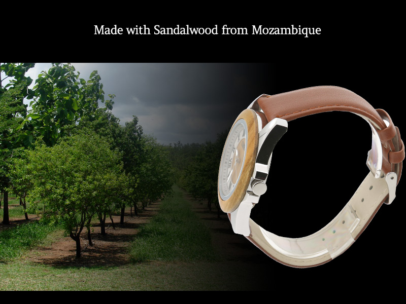 Made with Green Sandalwood from Mozambique