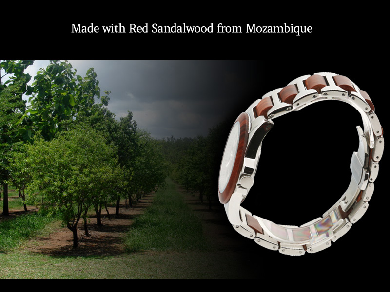 Made with Red Sandalwood from Mozambique