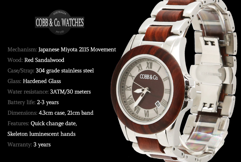Red Sandalwood Watch Overview